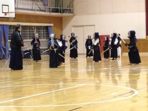 味酒剣道会との合同練習